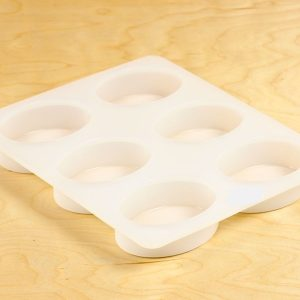 6 Bar Oval Silicone Mold